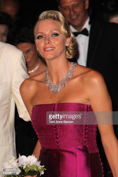 Princess Charlene of Monaco attends the 63rd Red Cross Ball Gala at Monte-Carlo Sporting on August 5, 2011 in Monte-Carlo, Monaco.