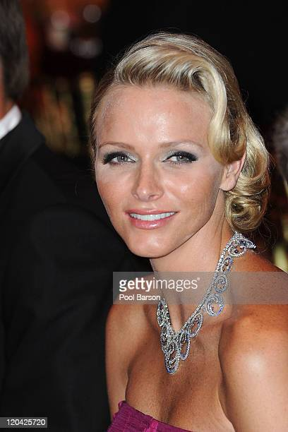 Princess Charlene of Monaco attends the 63rd Red Cross Ball Gala at MonteCarlo Sporting on August 5 2011 in MonteCarlo Monaco