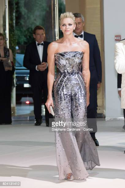 Princess Charlene of Monaco attends the 69th Monaco Red Cross Ball Gala at Sporting Monte-Carlo on July 28, 2017 in Monte-Carlo, Monaco.