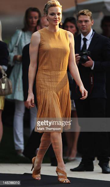 Princess Charlene of Monaco attends the Amber Fashion Show and Charity Auction at Le Meridien Beach Plaza Hotel on May 25 2012 in Monaco Monaco