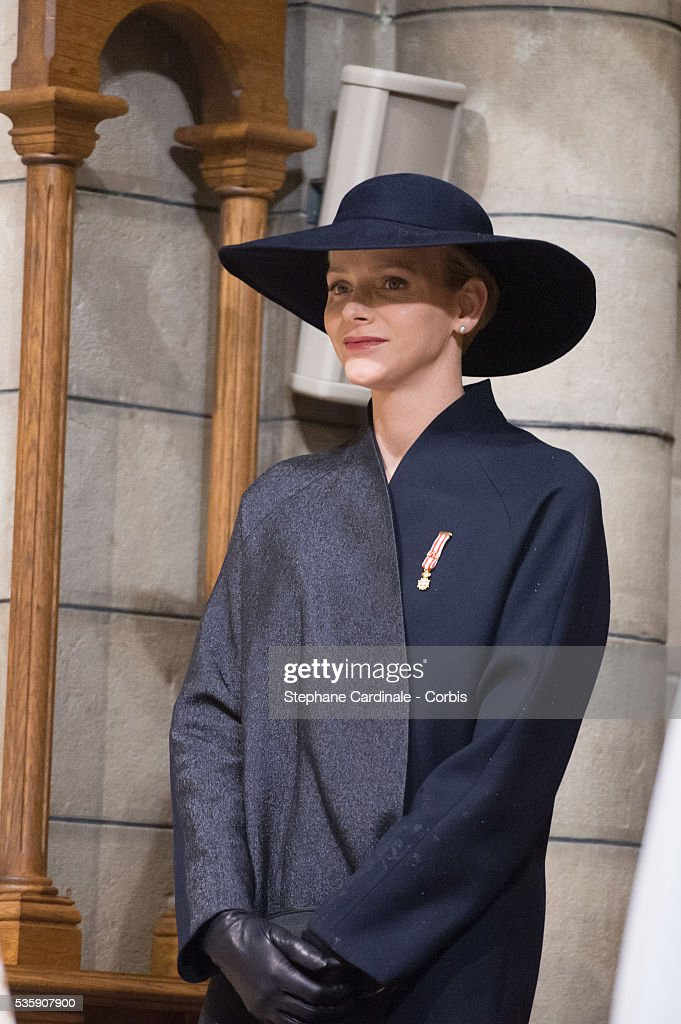 Princess Charlene of Monaco attends the Celebration of Mass at Cathedral Notre Dame Immaculee during the Celebrations of Monaco National Day, in Monaco.