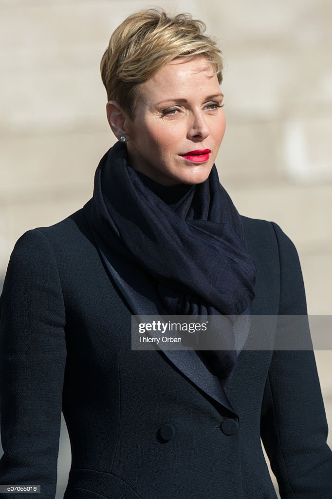 Princess Charlene of Monaco attends the Ceremony of the Sainte-Devote, the patron saint of the Principality of Monaco and Corsica on January 27, 2015 in Monaco.