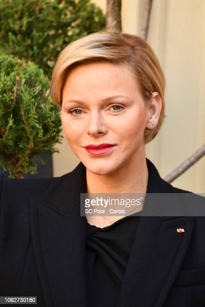 Princess Charlene of Monaco attends the Christmas Gifts Distribution on November 17 2018 in MonteCarlo Monaco