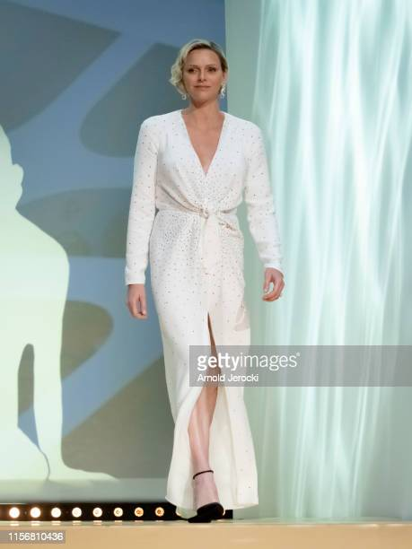 Princess Charlene of Monaco attends the closing ceremony of the 59th Monte Carlo TV Festival on June 18 2019 in MonteCarlo Monaco