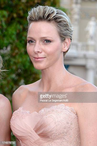 Princess Charlene of Monaco attends the cocktail at the 'Love Ball' hosted by Natalia Vodianova in support of The Naked Heart Foundation at Opera...