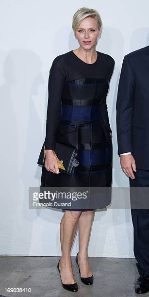 Princess Charlene of Monaco attends the Dior Cruise Collection 2014 on May 18 2013 in Monaco Monaco