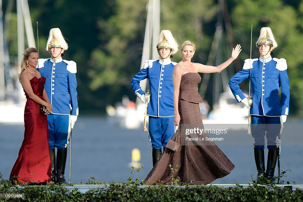 Princess Charlene of Monaco attends the evening banquet after the wedding of Princess Madeleine of Sweden and Christopher O'Neill hosted by King Carl XIV Gustaf and Queen Silvia at Drottningholm Palace on June 8, 2013 in Stockholm, Sweden.