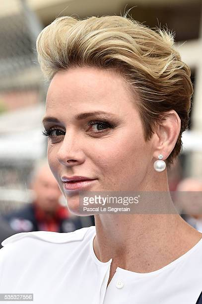Princess Charlene of Monaco attends the F1 Grand Prix of Monaco on May 29 2016 in MonteCarlo Monaco