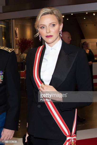 Princess Charlene of Monaco attends the gala at the Opera during Monaco National Day celebrations on November 19, 2019 in Monte-Carlo, Monaco.