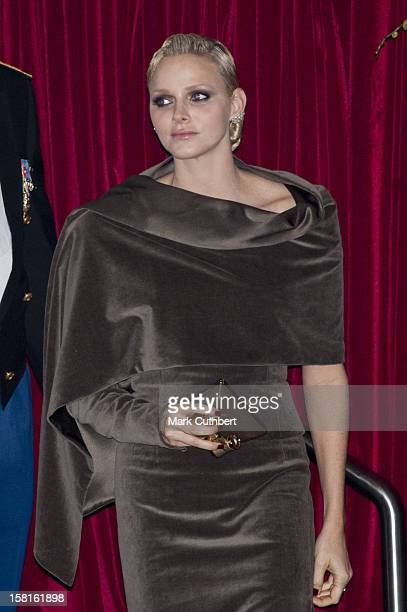 Princess Charlene Of Monaco Attends The Monaco National Day Gala Concert At Grimaldi Forum As Part Of Monaco National Day Celebrations In Monaco...