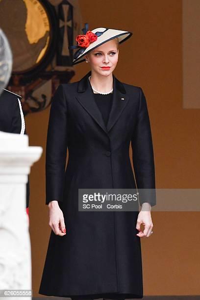 Princess Charlene of Monaco attends the Monaco National Day Celebrations in the Monaco Palace Courtyard on November 19, 2016 in Monaco, Monaco.