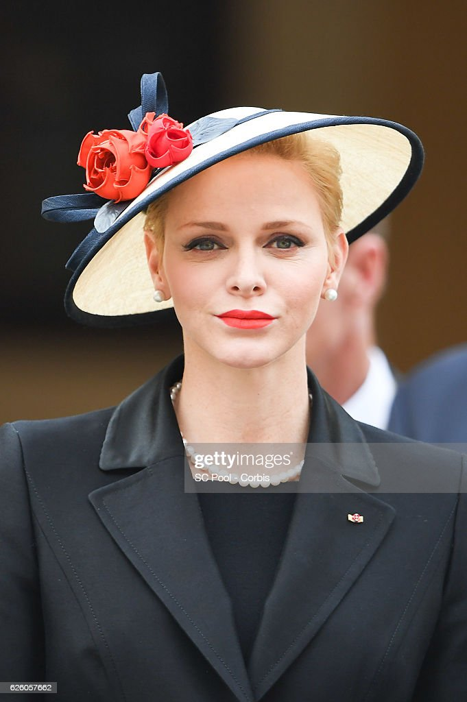 Princess Charlene of Monaco attends the Monaco National Day Celebrations in the Monaco Palace Courtyard on November 19, 2016 in Monaco, Monaco.