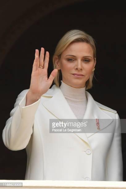 Princess Charlene of Monaco attends the Monaco National Day on November 19 2019 in MonteCarlo Monaco