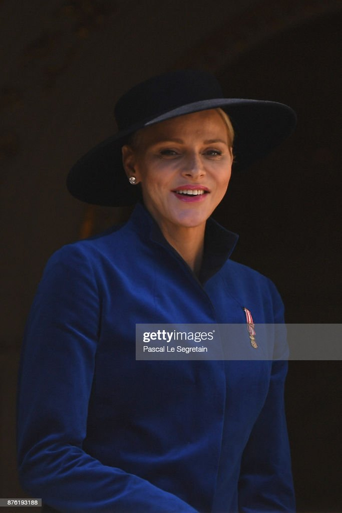 Princess Charlene of Monaco attends the Monaco National day celebrations on November 19, 2017 in Monaco, Monaco.