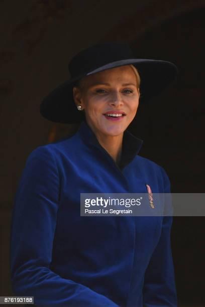Princess Charlene of Monaco attends the Monaco National day celebrations on November 19 2017 in Monaco Monaco