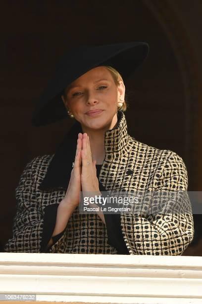 Princess Charlene of Monaco attends the Monaco National day parade on November 19 2018 in MonteCarlo Monaco