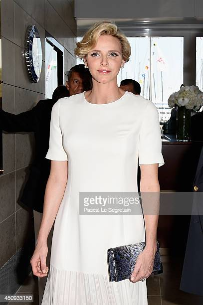 Princess Charlene of Monaco attends the Monaco Yacht Club Opening on June 20 2014 in MonteCarlo Monaco