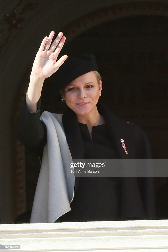 Princess Charlene of Monaco attends the National Day Parade as part of Monaco National Day Celebrations at Monaco Palace on November 19, 2014 in Monaco, Monaco.
