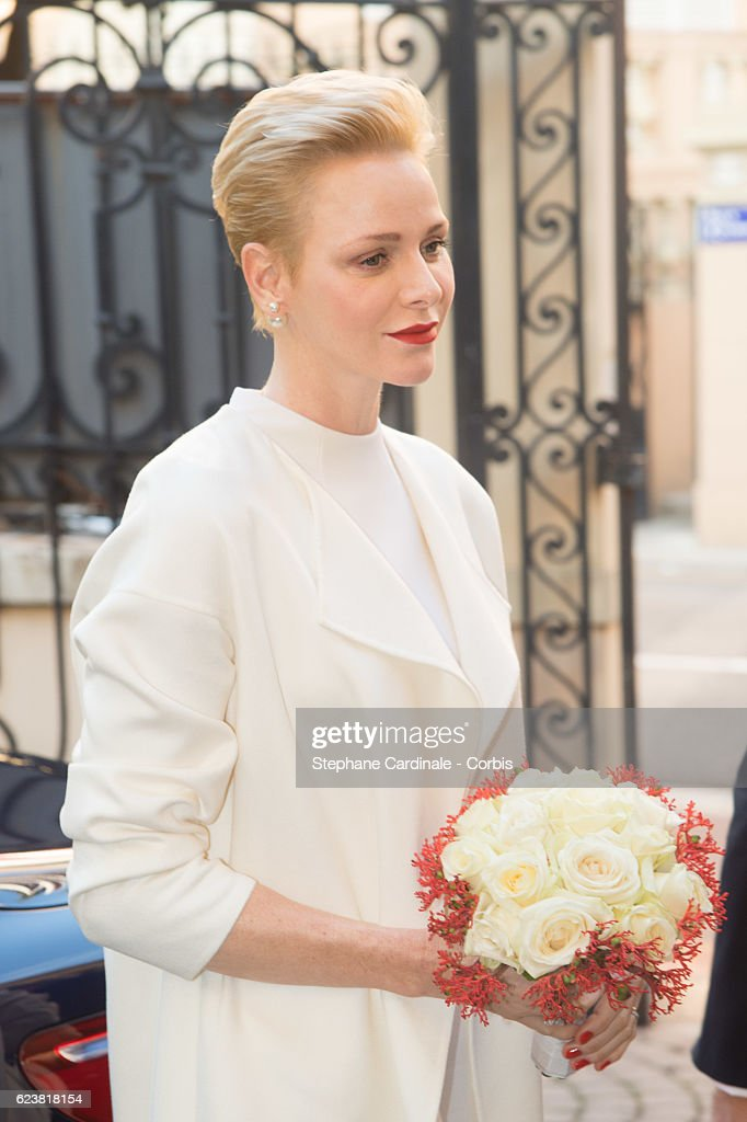 Princess Charlene of Monaco attends the Parcels Distribution At Monaco Red Cross Headquarters on November 17, 2016 in Monaco, Monaco.