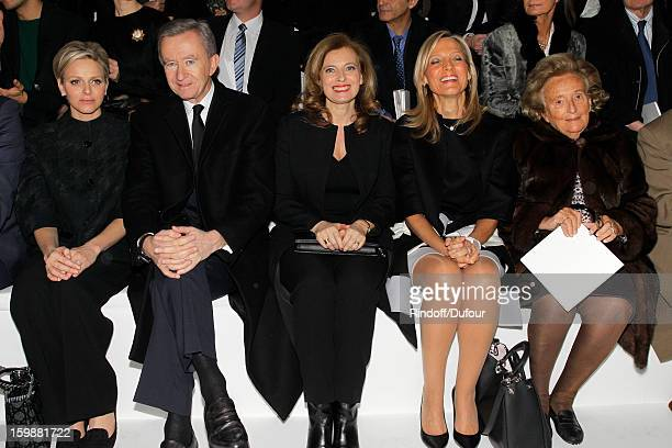 Princess Charlene of Monaco Bernard Arnault Chairman and CEO of LVMH Moet Hennessy Louis Vuitton Valerie Trierweiler Helene Arnault and Bernadette...