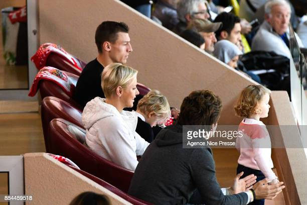 Princess Charlene of Monaco during the french Pro A match between Monaco and Chalon sur Saone on December 2 2017 in Monaco Monaco