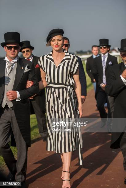 Princess Charlene of Monaco during the Princess Charlene Ladies Day at Turfontein Race course on April 23 2017 in Johannesburg South Africa Princess...