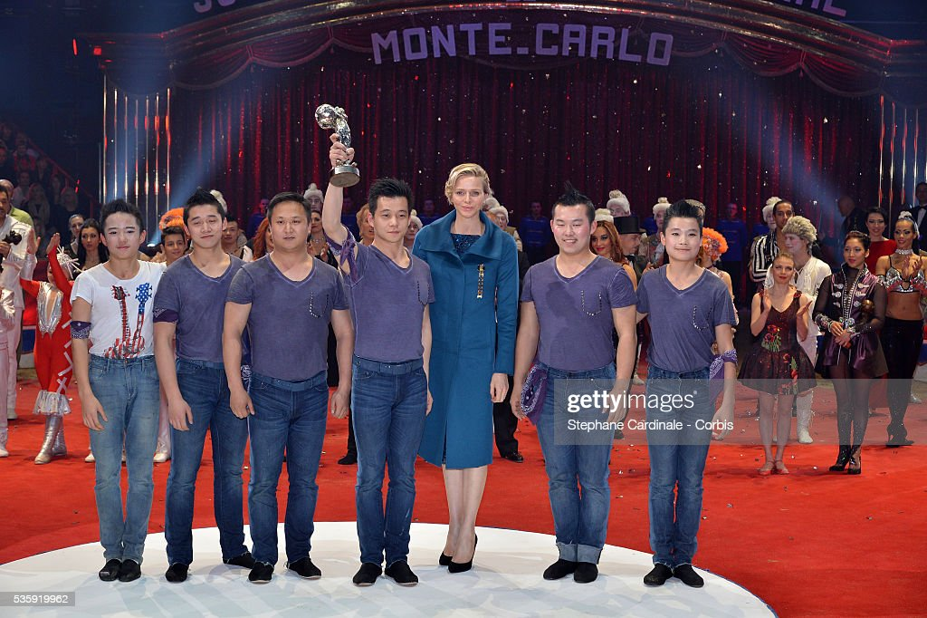 Princess Charlene of Monaco during the Prize Ceremony of the 38th International Circus Festival on January 21, 2014 in Monte-Carlo, Monaco.