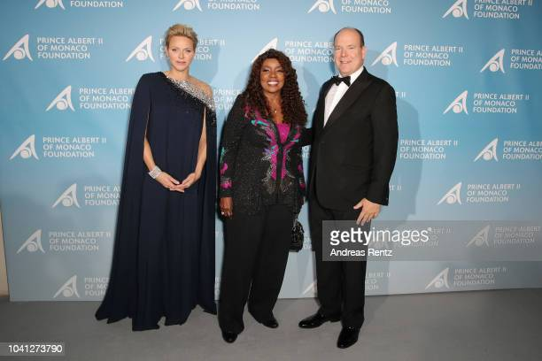 Princess Charlene of Monaco Gloria Gaynor and Prince Albert II of Monaco attend the Gala for the Global Ocean hosted by HSH Prince Albert II of...