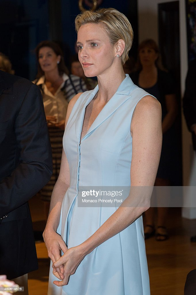 Princess Charlene of Monaco inaugurates the new Princess Charlene rose during the Princess Grace Rose Garden reopening after 8 months of work on June 14, 2014 in Monaco, Monaco.