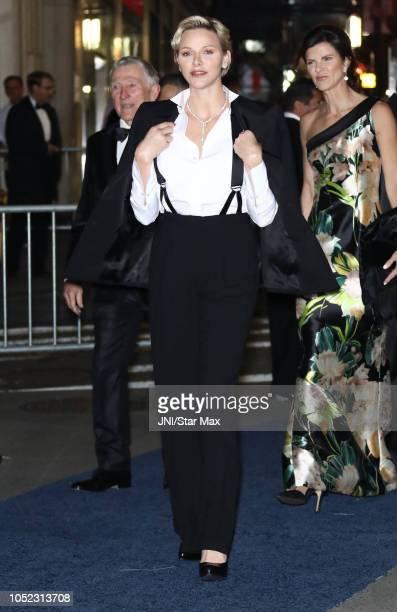 Princess Charlene of Monaco is seen on October 16 2018 in New York City