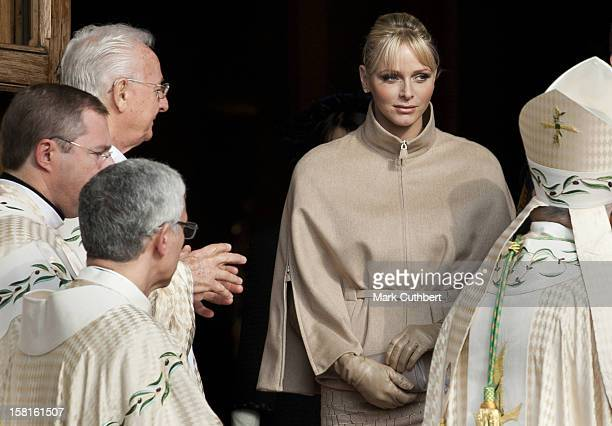 Princess Charlene Of Monaco Leaves The Cathedral After A Mass During The Celebrations Marking Monaco'S National Day In Monaco Monaco