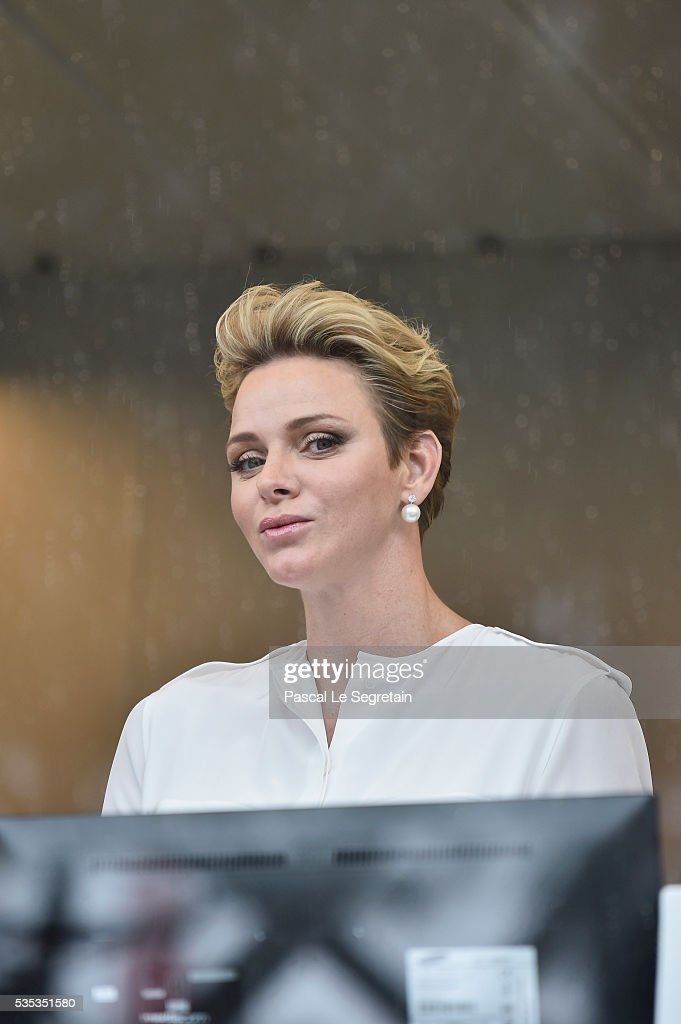 Princess Charlene of Monaco of Monaco attends the F1 Grand Prix of Monaco on May 29, 2016 in Monte-Carlo, Monaco on May 29, 2016 in Monte-Carlo, Monaco.