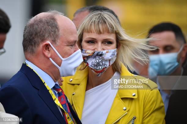 Princess Charlene of Monaco pictured during the first stage of the 107th edition of the Tour de France cycling race, 156km from Nice to Nice, in...