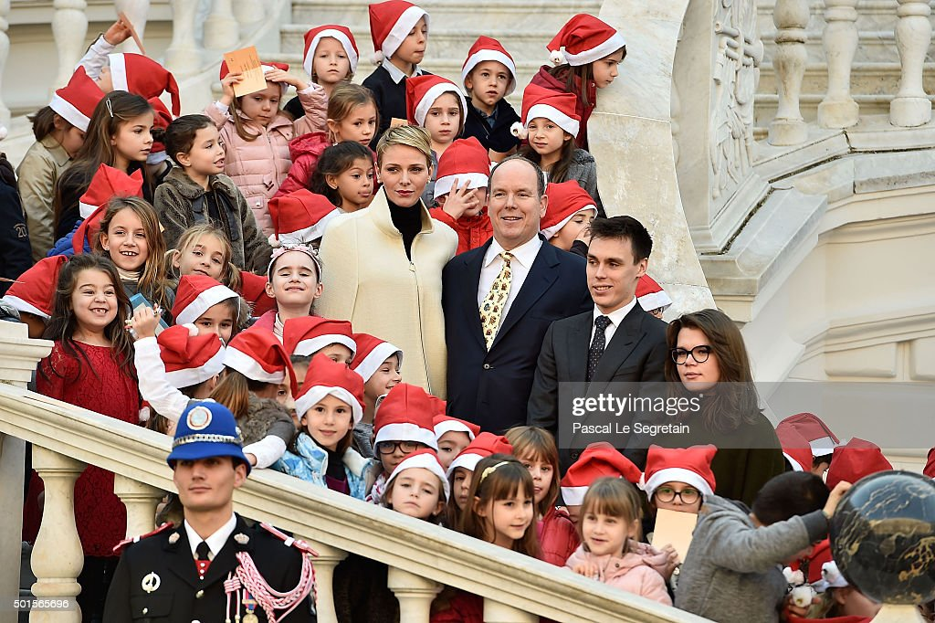 Christmas Gifts Distribution At Monaco Palace in Monte-Carlo : News Photo