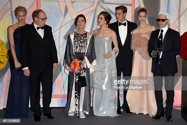 Princess Charlene of Monaco Prince Albert II of Monaco Princess Caroline of Hanover Charlotte Casiraghi Pierre Casiraghi Beatrice Borromeo and Karl...
