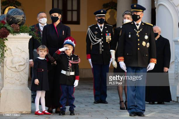 Princess Charlene of Monaco, Princess Gabriella of Monaco, Prince Jacques of Monaco, Prince Albert II of Monaco and Princess Caroline of Hanover...