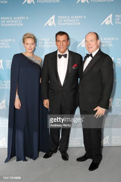 Princess Charlene of Monaco Robert Davi and Prince Albert II of Monaco attend the Gala for the Global Ocean hosted by HSH Prince Albert II of Monaco...