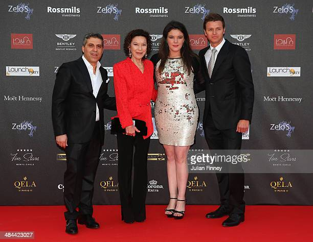 Princess Charlene's Brother Gareth Wittstock Melanie Antoinette de Massy Elisabeth Anne de Massy with guest during the ATP Monte Carlo Rolex Masters...