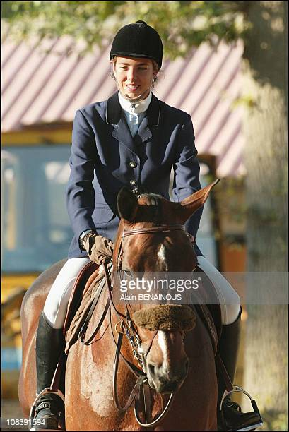 Princess Charlotte at the Pegasus ceremony In Versailles In Boisleroi France on September 20 2003