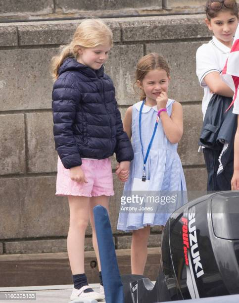Princess Charlotte at The Royal Yacht Squadron during the inaugural Kings Cup regatta hosted by the Duke and Duchess of Cambridge on August 08 2019...