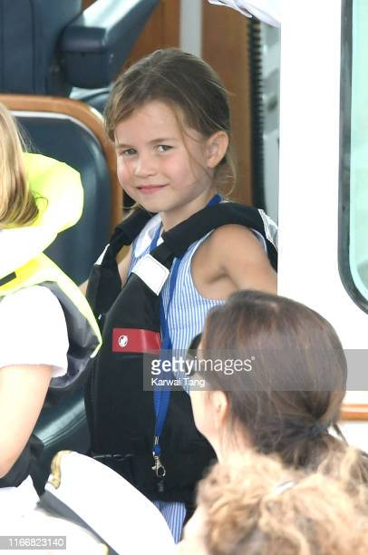 Princess Charlotte attends the King's Cup Regatta on August 08, 2019 in Cowes, England.