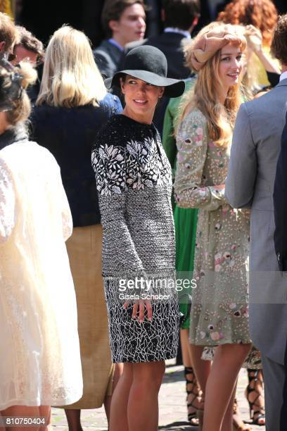 Princess Charlotte Casiraghi and Beatrice Borromeo during the wedding of Prince Ernst August of Hanover jr Duke of BrunswickLueneburg and his fiancee...