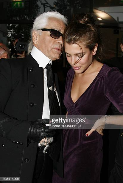 Princess Charlotte Casiraghi and Karl Lagerfeld in Paris France on October 06th 2007