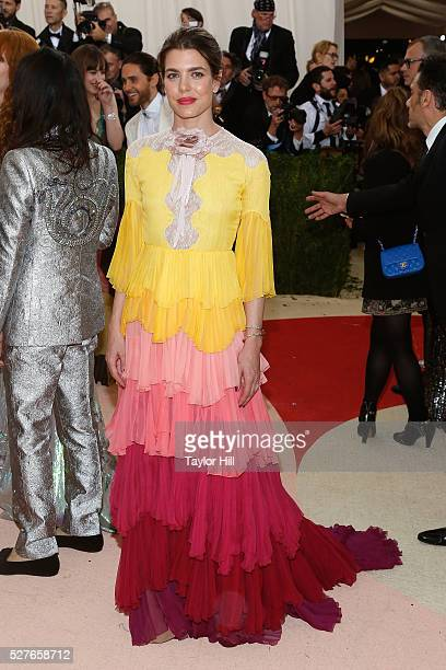 Princess Charlotte Casiraghi of Monaco attends 'Manus x Machina Fashion in an Age of Technology' the 2016 Costume Institute Gala at the Metropolitan...