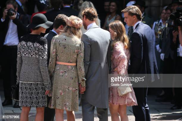 Princess Charlotte Casiraghi Prince Pierre Casiraghi and his wife Beatrice Borromeo Princess Alexandra of Hanover and her boyfriend BenSylvester...