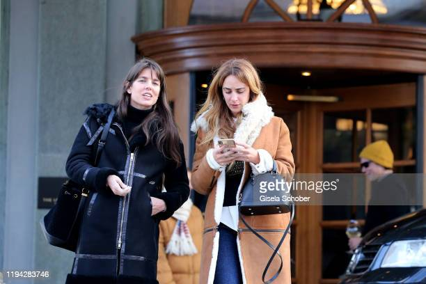 Princess Charlotte Casiraghi prior the wedding party of Stavros Niarchos III and Dasha Zhukova on January 17 2020 at Hotel Kulm in St Moritz...