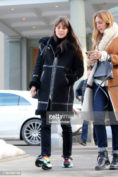 Princess Charlotte Casiraghi prior the wedding party of Stavros Niarchos III. And Dasha Zhukova on January 17, 2020 at Hotel Kulm in St. Moritz,...