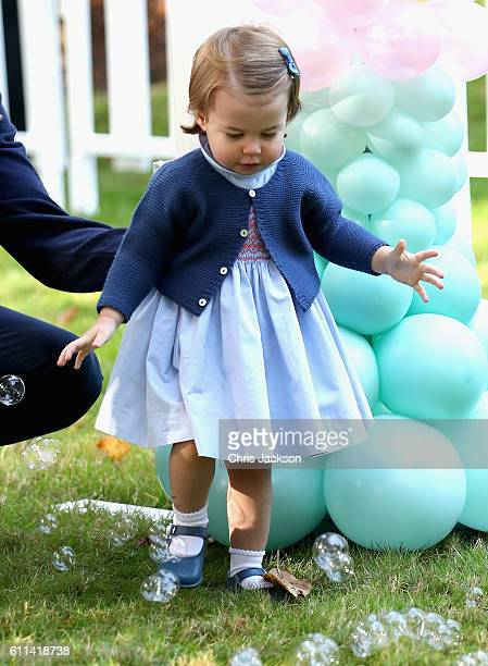 Princess Charlotte of Cambridge at a children's party for Military families during the Royal Tour of Canada on September 29, 2016 in Victoria,...