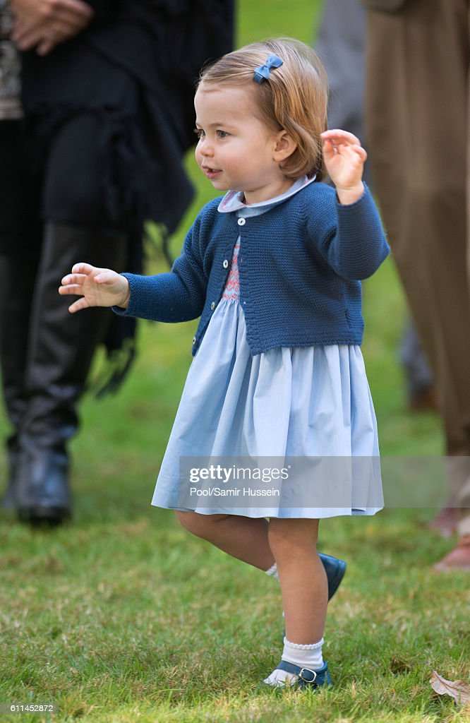 Princess Charlotte of Cambridge attends a children's party for Military families during the Royal Tour of Canada on September 29, 2016 in Victoria, Canada.