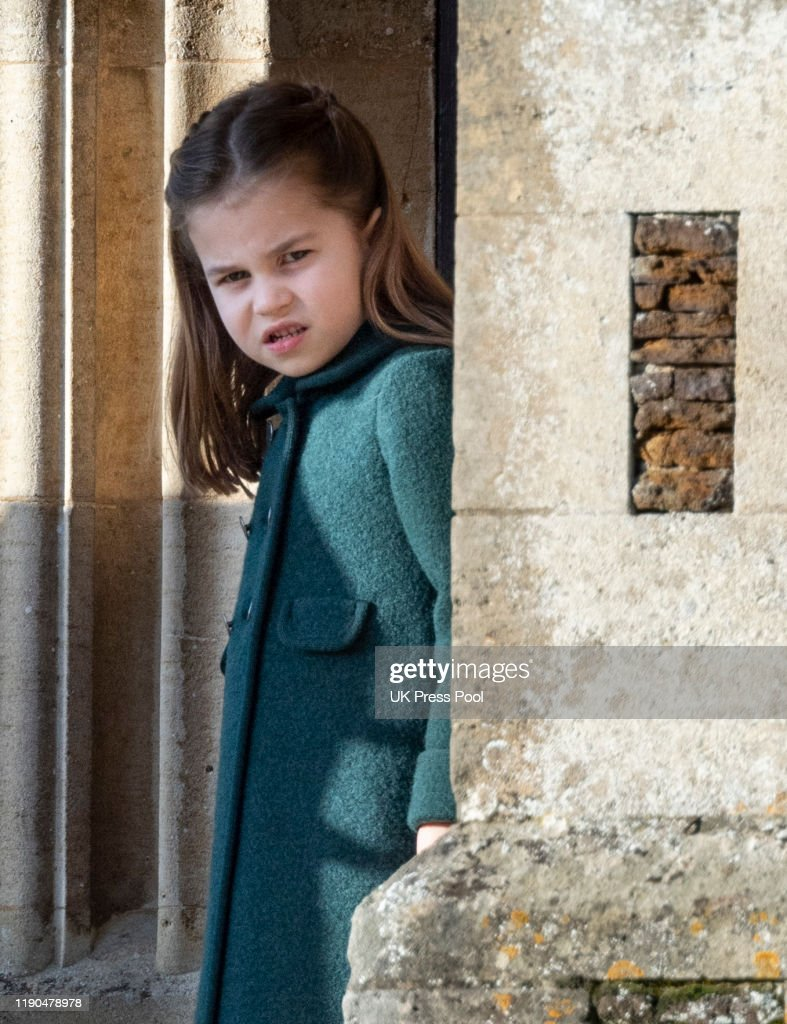 The Royal Family Attend Church On Christmas Day : Nieuwsfoto's